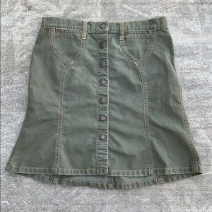 Abercrombie size 0 olive green skirt